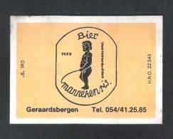 BROUWERIJ GERAARDSBERGEN -  BIER MANNEKEN PIS - GERAARDSBERGEN  - 1 BIERETIKET  (BE 535) - Bière