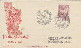 FINLAND 1949 FDC 300 Years RAAHE - BRAHESTAD.BARGAIN.!! - Finlande