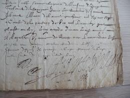 Gaspard Auguste De Bellegarde Baron DeThermes Chevalier Malte écuyer Autographe   22/08/1606 - Autógrafos
