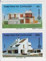 Europa Cept 1987 Northern Cyprus 2v From Booklet Pane ** Mnh (42246F - 1987