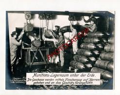 OBUS Pour Piece D'ARTILLERIE-MUNITIONS-Grosse CP PHOTO Allemande-Guerre 14-18-1WK-Militaria-Paul HOFFMANN - Oorlog 1914-18