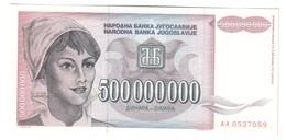 Yugoslavia 5000000000 Dinara 1993 UNC .C3. - Yugoslavia