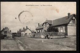 45, Migneres, La Place Et L'ecole - Autres Communes