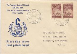FINLAND 1947 FDC 125 Years Savings Bank Of Finland.BARGAIN.!! - Finlande