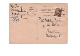 KZ KL Ghetto Theresienstadt - Postkarte Eines Insassen Von 1944 Nach Hamburg - Judaika / Judaica - Duitsland
