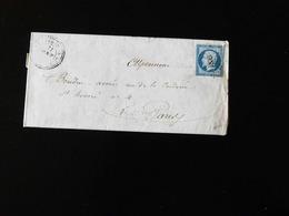 LETTRE DE LA MAILLERAYE SUR SEINE POUR PARIS  -  1855  - - Storia Postale