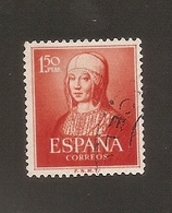 España 1951 Used Yvert 814 Isabel La Católica - 1931-Aujourd'hui: II. République - ....Juan Carlos I