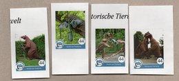 Privatpost - Nordkurier - Prähistorische Tiere / Saurier / Dinosaurier - 4 W - Stamps