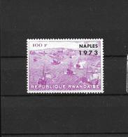 REPUBLIQUE RWANDAISECOB 560 A SURCHARGE ARGENT NAPLES 1973 - Rwanda