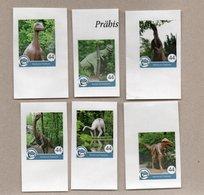 Privatpost - Nordkurier - Prähistorische Tiere / Saurier / Dinosaurier - 6 W - Stamps