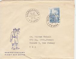 FINLAND 1953 FDC SALPAUSSELKA.BARGAIN.!! - Finlande
