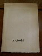 Op Handgeschept Papier Met Watermerk  De Gandhi 1948 New- Delhi - Announcements
