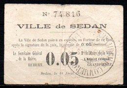566-Sedan Billet De 5c 10-08-1915 - Bons & Nécessité