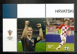 CROATIA 2019,SPORT,SOCCER,FOOTBALL,PERSONS LUKA MODRIC,,WITH LABEL,WIGNETTE,MNH - Football