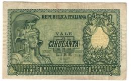 Italy 50 Lire 1951 - [ 2] 1946-… : Repubblica