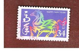STATI UNITI (U.S.A.) -   MI 3518  - 2002 CHINESE NEW YEAR: HORSE   - USED - Used Stamps