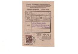 KZ KL Sonderlager Bistritz Bei Beneschau SS Übungsplatz - Paketeinlieferungsschein 8/1944 - SELTEN - Judaika / Judaica - Storia Postale