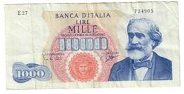 Italy 1000 Lire 25/07/1964 - [ 2] 1946-… : Repubblica