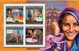 GUINEA 2011 SHEET ELEFANTES ELEPHANTS ELEFANTEN ELEFANTI CIRCUS CIRQUE CIRCO WILDLIFE Gu11218a - Guinee (1958-...)