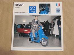 PEUGEOT Scootelec Scooter Prototype France 1991 Moto Fiche Descriptive Motocyclette Motos Motorcycle Motocyclette - Fiches Illustrées