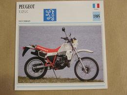 PEUGEOT X 125 L/C Tout Terrain France 1985 Moto Fiche Descriptive Motocyclette Motos Motorcycle Motocyclette - Sammelkarten, Lernkarten