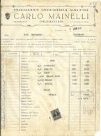 OLEGGIO--  CARLO  MAINELLI  INDUSTRIA  SALUMI  X    1948     LUINO    STATO  COME  SCANSIONE - Italy