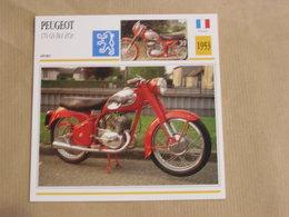 PEUGEOT 176 GS Bol D'Or France 1953 Moto Fiche Descriptive Motocyclette Motos Motorcycle Motocyclette - Fiches Illustrées
