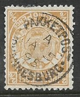 South Africa, Transvaal,, ZAR,, 1885, 2/6, Perf 12.5, ,  Used, PAKKETPOS JOHANNESBURG Ja 5 95, C.d.s. - South Africa (...-1961)
