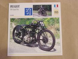 PEUGEOT 500 Grand Prix GP France 1923 Moto Fiche Descriptive Motocyclette Motos Motorcycle Motocyclette - Fiches Illustrées
