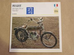 PEUGEOT 350 Cm3 Paris Nice France 1914 Moto Fiche Descriptive Motocyclette Motos Motorcycle Motocyclette - Fiches Illustrées