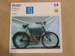 PEUGEOT Mobylette 150 Cm3 ZL  France 1901 Moto Fiche Descriptive Motocyclette Motos Motorcycle Motocyclette - Fiches Illustrées