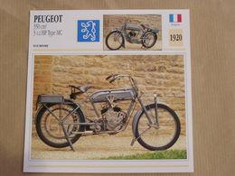 PEUGEOT 350 Cm3 Type MC France 1980 Moto Fiche Descriptive Motocyclette Motos Motorcycle Motocyclette - Fiches Illustrées