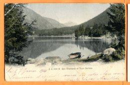 FR134, Lac De Champex Et Tour Salière, Barque, 1083, édit. Jullien Frères, Précurseur, Pli D'angle, Circulée 1905 - VS Valais