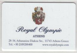 GRECIA  KEY HOTEL  Royal Olympic Athens - Cartes D'hotel