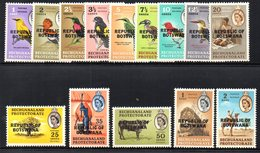 CI1058A - BOTSWANA 1966 , Ordinaria Yvert N. 153/166  ***   (2380A) . - Botswana (1966-...)