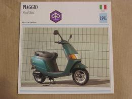PIAGGIO 50 Cm3 Sfera Italie 1991 Moto Fiche Descriptive Motocyclette Motos Motorcycle Motocyclette - Non Classés