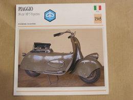 PIAGGIO 98 Cm3 MP 5 Paperino Scooter Italie 1945 Moto Fiche Descriptive Motocyclette Motos Motorcycle Motocyclette - Non Classés