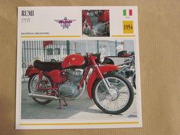 RUMI 175 VT Exception Italie 1954 Moto Fiche Descriptive Motocyclette Motos Motorcycle Motocyclette - Non Classés