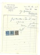 VARESE   ZAMBERLETTI  ENRICO  PASTICCERIA  X    1951     LUINO    STATO  COME  SCANSIONE - Italia