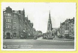 * Anderlecht (Brussel - Bruxelles) * (Nels, Edit A. Durr Et Fils, Nr 54) Place De La Vaillance, Square, église, Oldtimer - Anderlecht