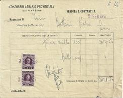 CONSORZIO  AGRARIO  LUINO    1947  X       LUINO    STATO  COME  SCANSIONE - Italie
