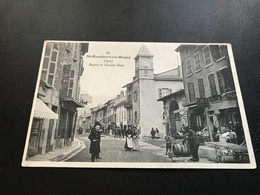 41 - SAINT RAMBERT EN BUGEY Mairie Et Grande Rue - 1906 Timbrée - France