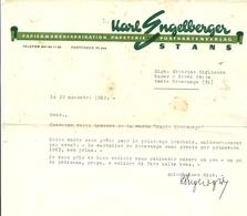 SVIZZERA--PONTE  CREMENAGA     KARE  ENGEELLERGER  PAPETERIE  STANS   RECHNUNG  1962 X  BAZAR  CREMENAGA  ITALIA - Svizzera