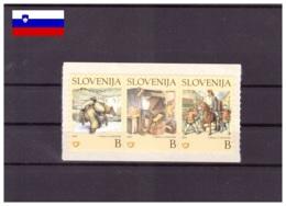 Slovenie 2002- MNH ** - Enfance - Littérature - Michel Nr. 389-391 Série Complète (slo533) - Slowenien