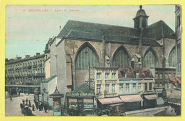 * Brussel - Bruxelles - Brussels * (nr 44) église Saint Nicolas, Couleur, à L'étoile D'or Bijouterie, Horlogerie, TOP - Bruxelles-ville
