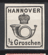 Germania Hannover 1859 Unif.16 */MH VF/F - Hanover