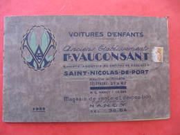 Catalogue  - VOITURES D'ENFANTS - VAUCONSANT à SAINT NICOLAS DE PORT - 1932 - Vieux Papiers