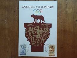 REPUBBLICA - Cartolina Ufficiale Olimpiade Di Roma Con Serie Annullata Apertura Giochi + Spese Postali - 6. 1946-.. Repubblica