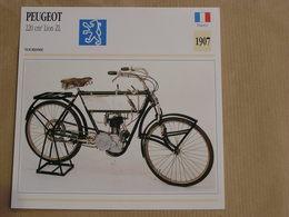 PEUGEOT 220 Cm3 Lion ZL  France 1907 Moto Fiche Descriptive Motocyclette Motos Motorcycle Motocyclette - Fiches Illustrées