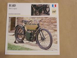 BUARD Moto à Vapeur France 1907 Moto Fiche Descriptive Motocyclette Motos Motorcycle Motocyclette - Fiches Illustrées